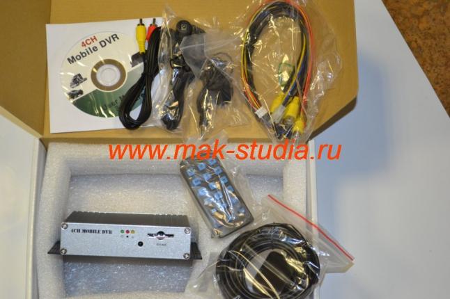 Автомобильный видеорегистратор-так выглядит комплект оборудования