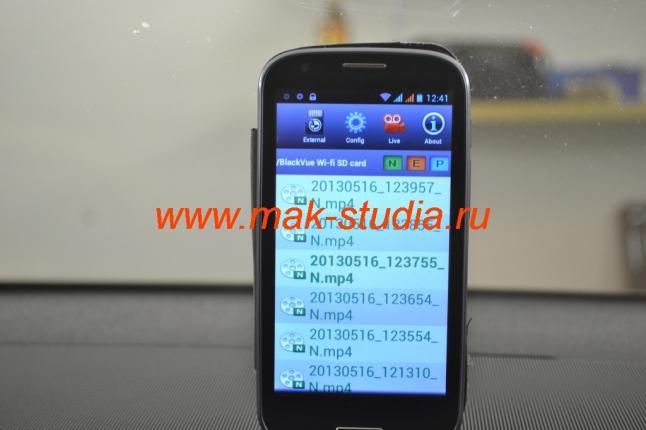BLACKVUE DR500GW - режим отображения записанных видеороликов