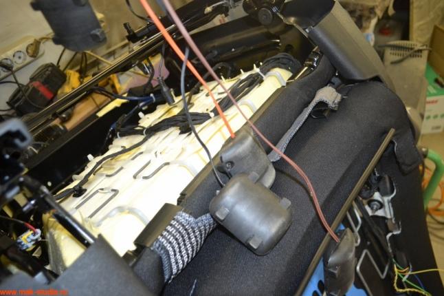 установка вибромассажа в кресло автомобиля