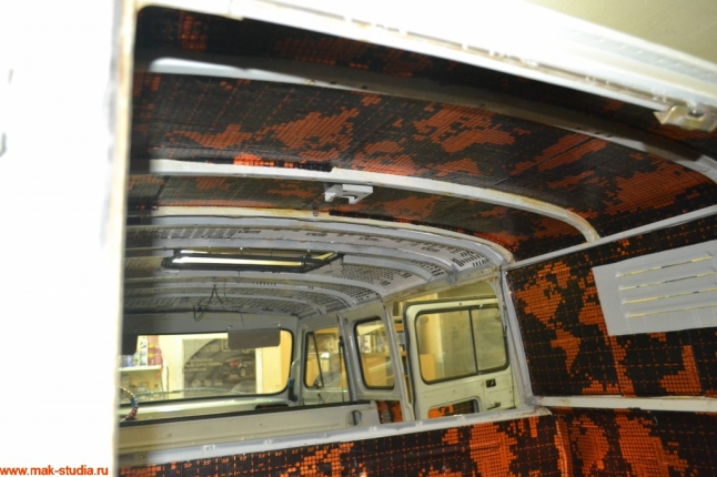 Шумоизоляция потолка УАЗ