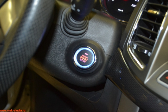 устанавливаем кнопку старт-стоп