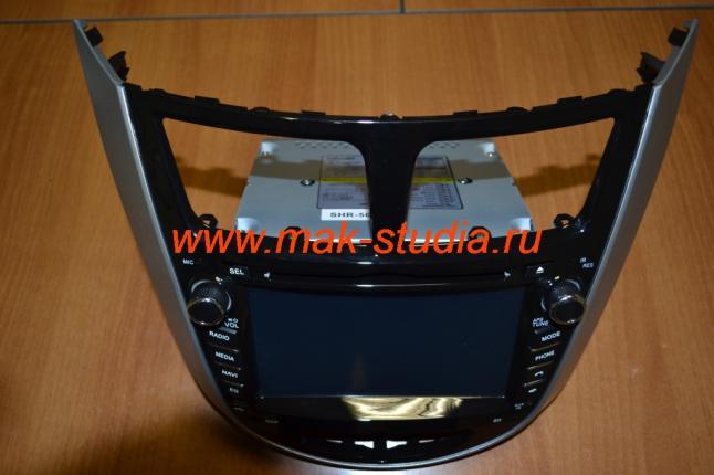 Установка головного устройства на Hyundai Solaris