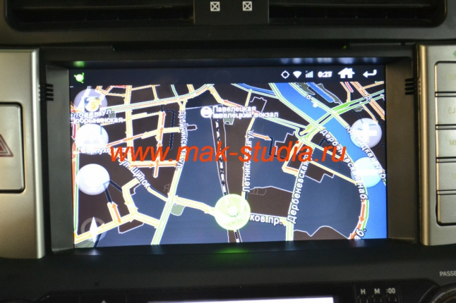 Головное устройство Daystar - карта