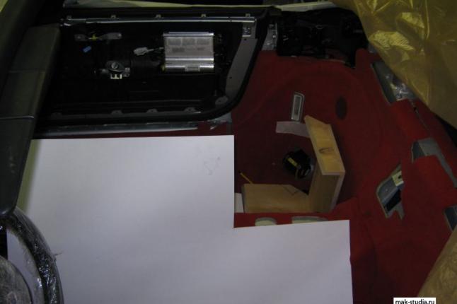 Изготовление сабвуфера сложной формы.