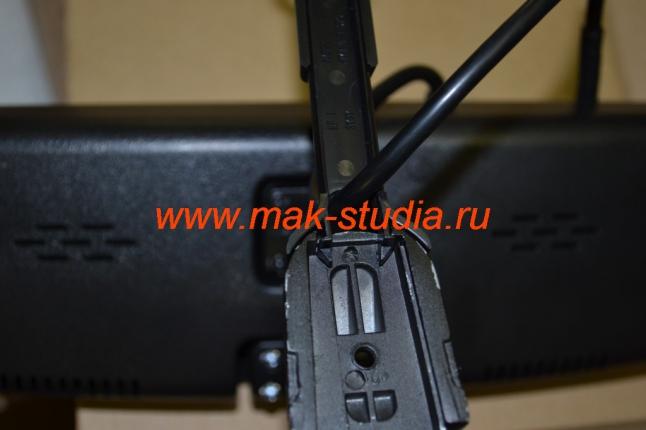 Установка видеорегистратора - штатная ножка защиты проводов полностью подошла к видеорегистратору