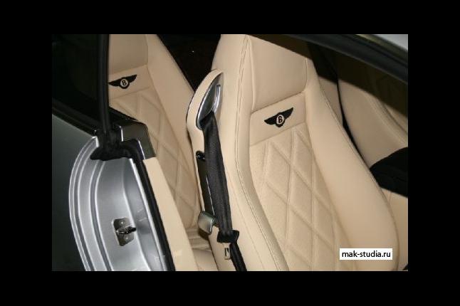 Перетяжка кожей салона Bentley