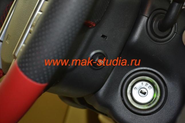 Установка обогрева руля - кнопка включения удачно расположилась на руле под правую руку