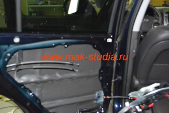 Шумоизоляция дверей автомобиля - второй слой сплэн