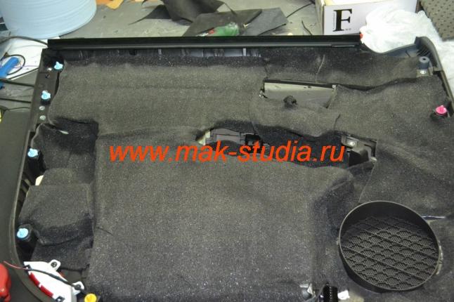 Шумоизоляция дверей автомобиля - четвёртый и пятый слой на обшивку