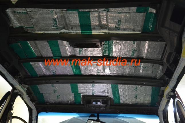 Шумоизоляция потолка - слой вибропласта