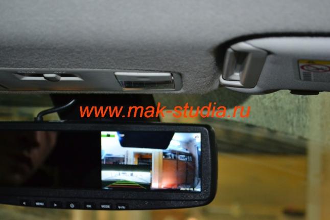 Скрытая установка видеорегистратора в виде штатного зеркала