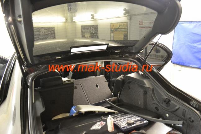Скрытая установка видеорегистратора: установка задней камеры.