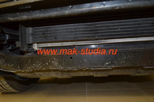 """Защита радиатора - пробег совсем небольшой, но уже первые """"гости"""" появились"""