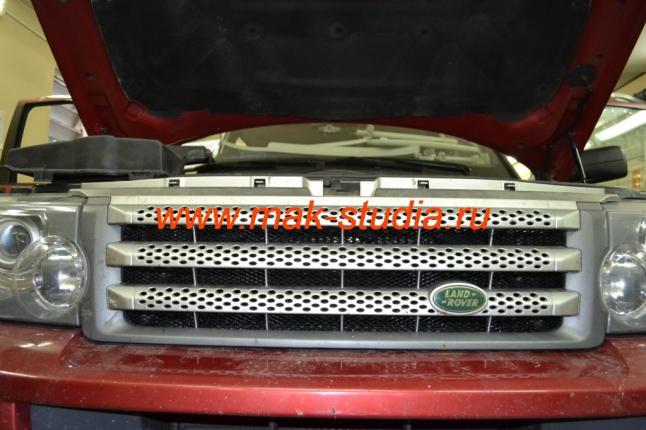 Защитная сетка радиатора вверху
