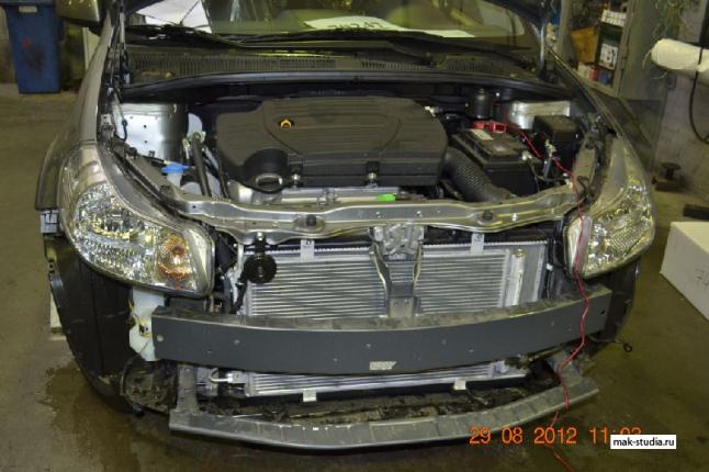 Так выглядит автомобиль в процессе установки
