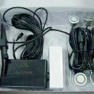 Содержимое упаковки парктроника Autrix F-368 с серебристыми датчиками