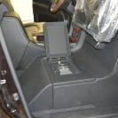 В полу вмонтирован сейф