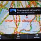 Штатное головное устройство Kia Sorento - карта с пробками