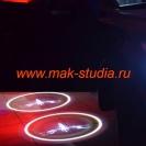 Лазерная проекция логотипа авто Хендай