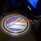Лазерная проекция логотипа Тойота