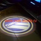 Лазерная проекция логотипа автомобиля по индивидуальному заказу