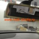 Скрытая установка видеорегистратора на Volkswagen Touareg: с места водителя видеорегистратор не виден