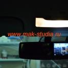 Видеорегистратор: передняя камера на экране