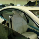 Перетяжка кожей салона Mercedes Benz 216