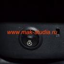 Установка подогрева руля - кнопка включения расположилась возле штатного отверстия снятия подушки руля