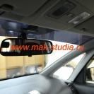 Скрытая установка видеорегистратора в автомобиль - пока ещё штатное зеркало