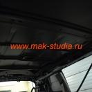 Шумоизоляция потолка - голый металл