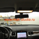 Скрытая установка видеорегистратора на Volkswagen Touareg (С места водителя видеорегистратор невиден)